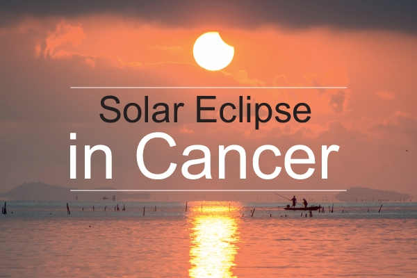 New Moon and Partial Solar Eclipse in Cancer