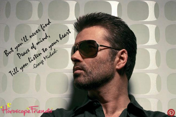 George Michael and his astrological birth chart