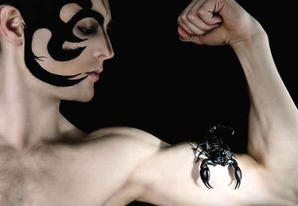 The Scorpio man is The Scorpio man is confident, intense, obsessive, unforgiving, passionate, romantic, sexy and jealous.