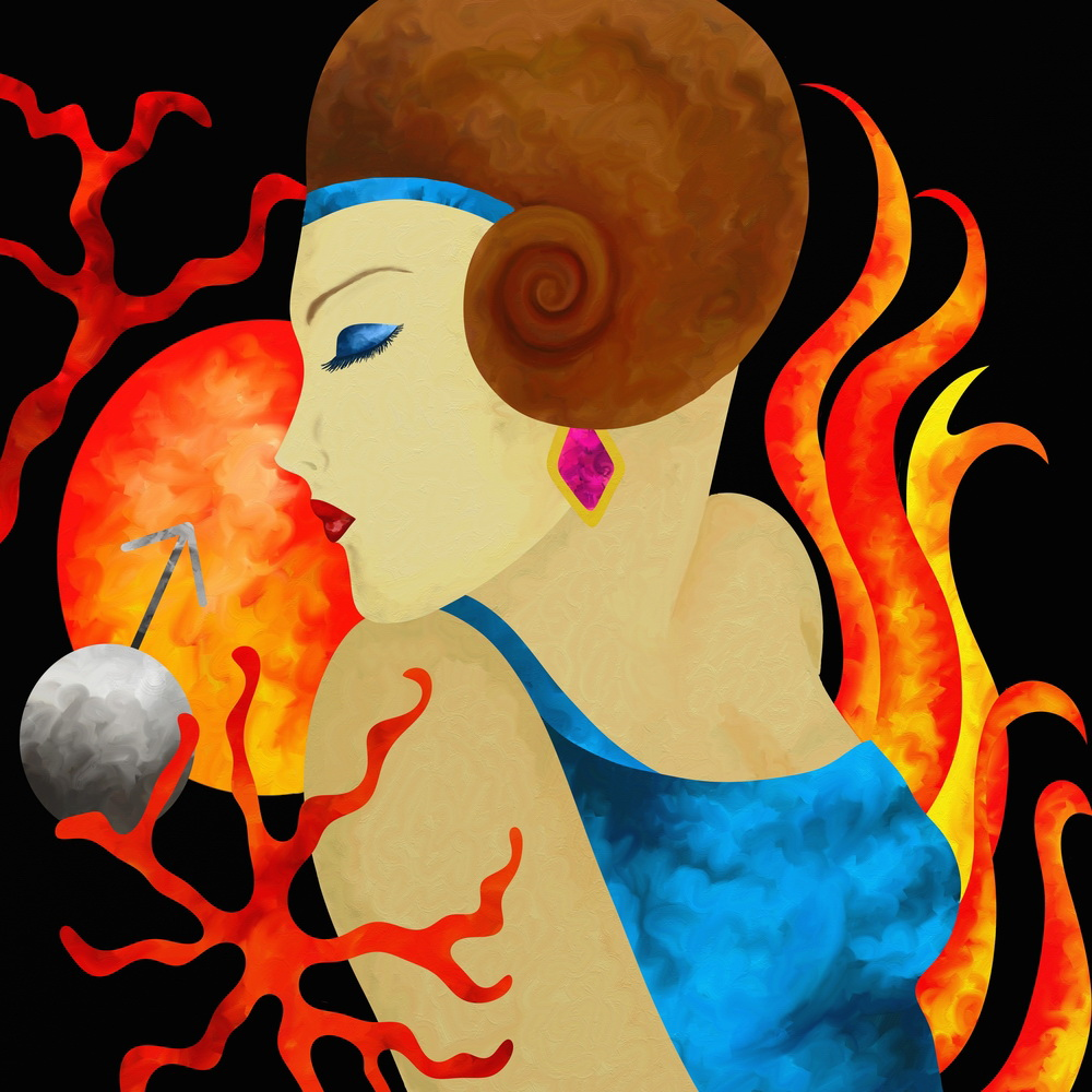Aries woman is fiery, independent, energetic and intelligent.